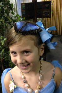 me with butterfly on head